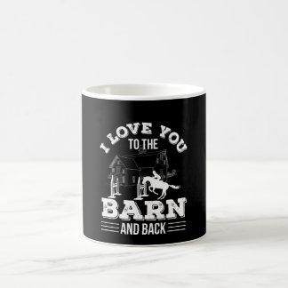 I Love You To The Barn Back Horse Riding Coffee Mug