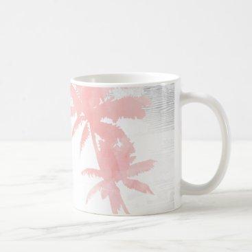 Beach Themed I love you to the beach & back palm tree wood coffee mug