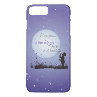 I Love You to the Moon and Back Blowing Bubbles iPhone 8 Plus/7 Plus Case