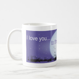 I Love You to the Moon and Back-boy blowing bubble Coffee Mug