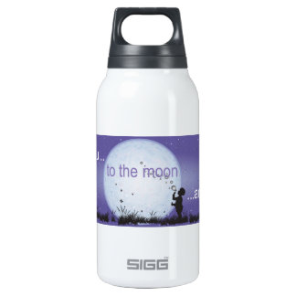 I Love You to the Moon and Back-boy blowing bubble Insulated Water Bottle