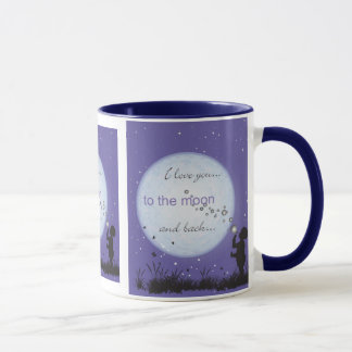 I Love You to the Moon and Back-boy blowing bubble Mug