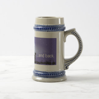 I Love You to the Moon and Back-boy blowing bubble 18 Oz Beer Stein