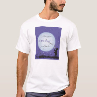 I Love You to the Moon and Back-boy blowing bubble T-Shirt