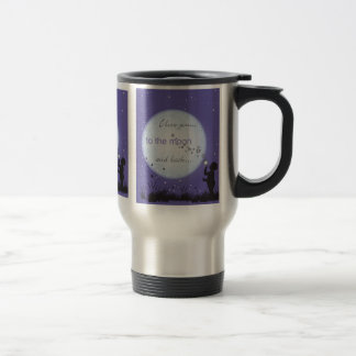 I Love You to the Moon and Back-boy blowing bubble Travel Mug