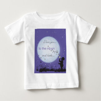 I Love You to the Moon and Back-boy blowing bubble T-shirts