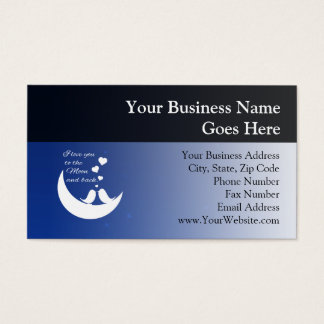 I Love You to the Moon and Back Business Card