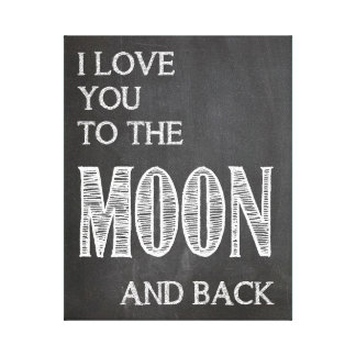 I love you to the moon and back - canvas print