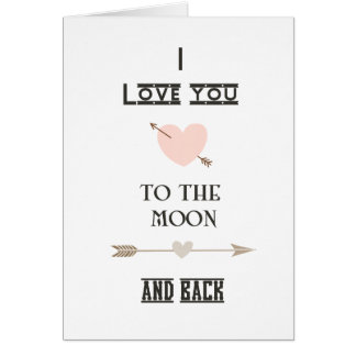 I love you to the moon and back cards