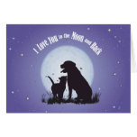 I Love You to the Moon and Back Cards Postcards
