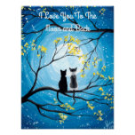 I Love You To The Moon and Back Cat Poster
