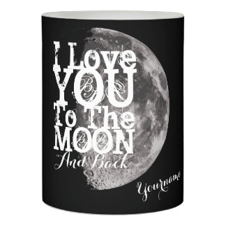 I Love You To The Moon And Back custom Name Flameless Candle