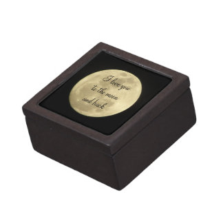I love you to the moon and back gift box premium jewelry boxes