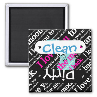 I Love You to the Moon and Back Gifts 2 Inch Square Magnet