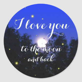 I Love You To The Moon And Back Glow Bug Sticker