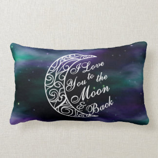 """""""I Love You To The Moon and Back"""" Home Decor Lumbar Pillow"""