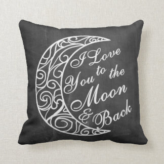 """""""I Love You To The Moon and Back"""" Home Decor Throw Pillow"""