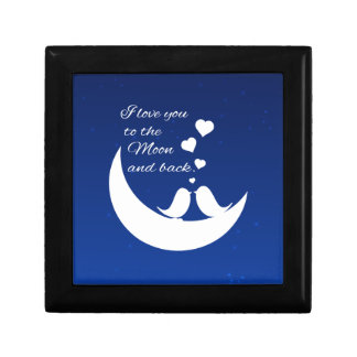 I Love You to the Moon and Back Jewelry Box