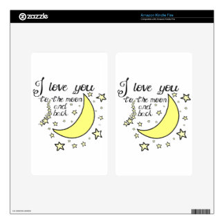 I love you to the moon and back kindle fire skin