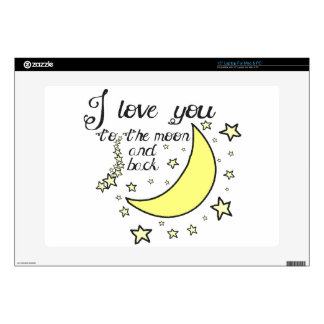 I love you to the moon and back laptop skins