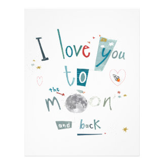 I love you to the moon and back letterhead