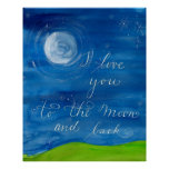 """I love you to the moon and back"" Love poster"