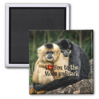 I Love You to the Moon and Back Refrigerator Magnets