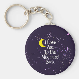 I Love You to the Moon and Back - Man in the Moon Basic Round Button Keychain