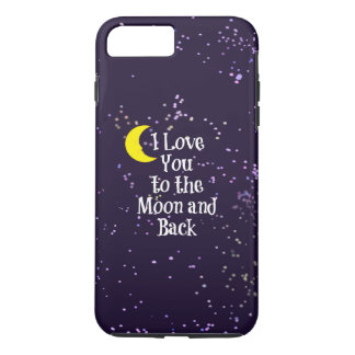 I Love You to the Moon and Back - Man in the Moon iPhone 7 Plus Case