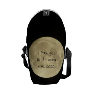 I love you to the moon and back mini messanger bag