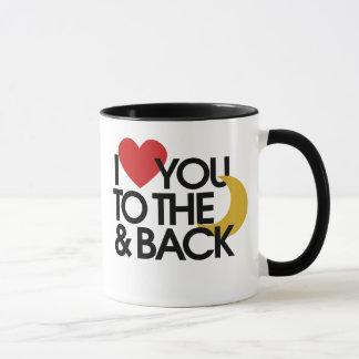 I Love you to the moon and back Mug