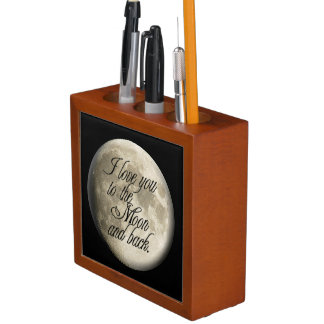 I Love You to the Moon and Back Realistic Lunar Pencil Holder