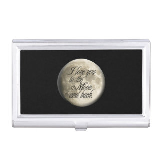 I Love You to the Moon and Back Realistic Lunar Business Card Holders