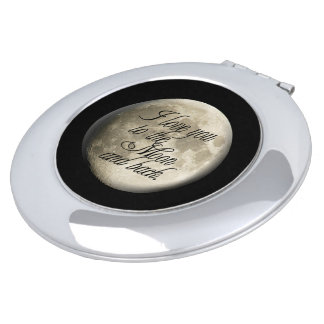 I Love You to the Moon and Back Realistic Lunar Makeup Mirror