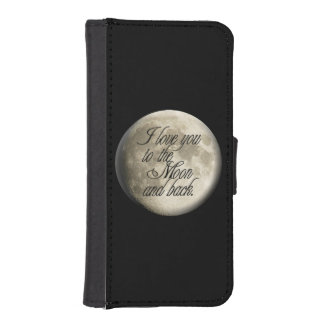 I Love You to the Moon and Back Realistic Lunar Phone Wallet Cases