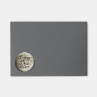 I Love You to the Moon and Back Realistic Lunar Post-it® Notes