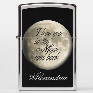 I Love You to the Moon and Back Realistic Lunar Zippo Lighter