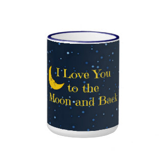 I Love You to the Moon and Back Ringer Coffee Mug