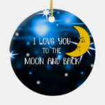 I Love You to the Moon and Back--Starry Sky Ceramic Ornament