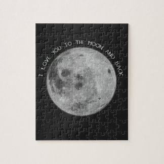 I Love You To The Moon and Back Starry Sky Jigsaw Puzzle