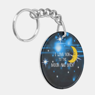 I Love You to the Moon and Back--Starry Sky Keychain