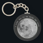 """I Love You To The Moon and Back Starry Sky Keychain<br><div class=""""desc"""">Be inspired by this &quot;I love you to the moon and back&quot; design,  and remind your loved ones how much you care.</div>"""