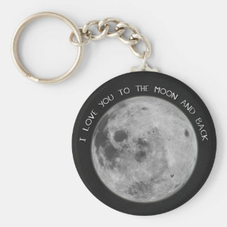 I Love You To The Moon and Back Starry Sky Keychain