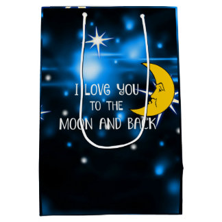 I Love You to the Moon and Back--Starry Sky Medium Gift Bag