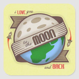 I Love You To The Moon And Back - Sticker Set