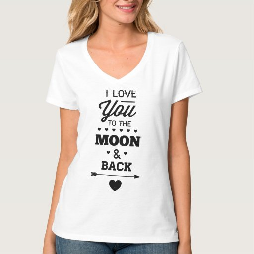 I love you to the moon and back t shirt zazzle for I love you t shirts