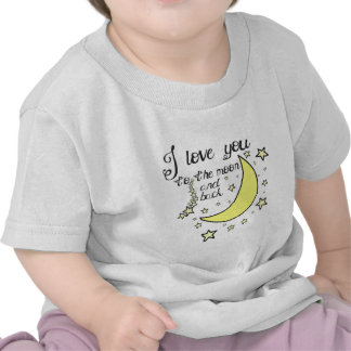 I love you to the moon and back tee shirts