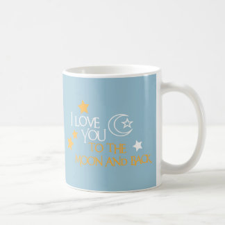 I Love You TO THE MOON AND BACK Unique Gift Friend Classic White Coffee Mug
