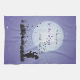 I Love You to the Moon and Back-Unique Gifts Kitchen Towel