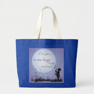 I Love You to the Moon and Back-Unique Gifts Large Tote Bag